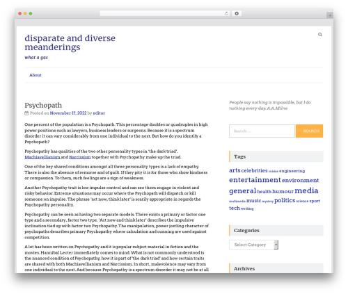 Speedy best free WordPress theme - waxpoetic.com.au