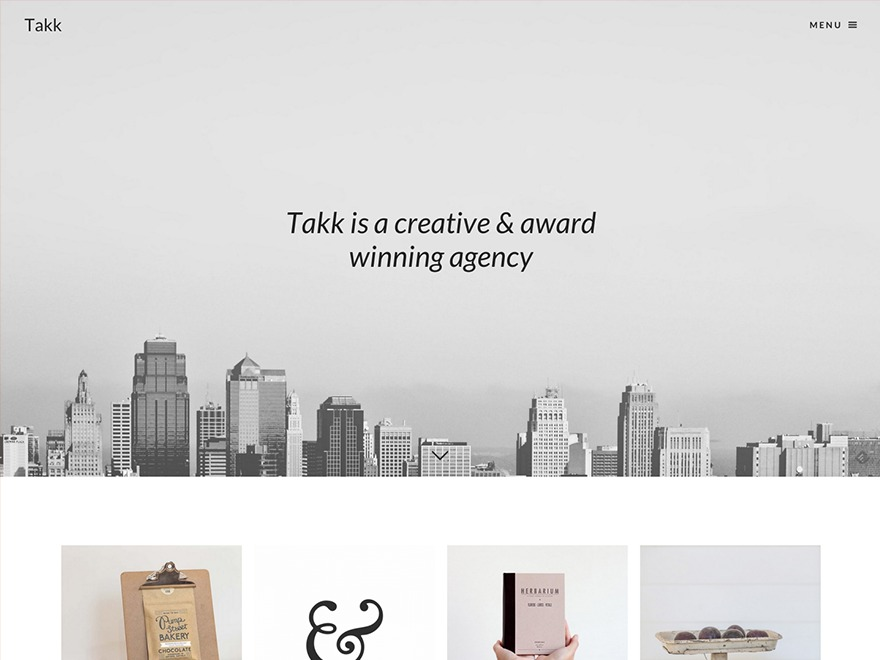 Takk WordPress portfolio template
