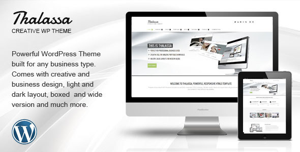 Thalassa WP wallpapers WordPress theme