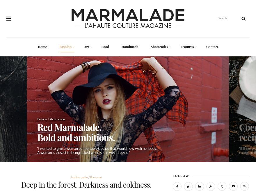The Marmalade WordPress theme