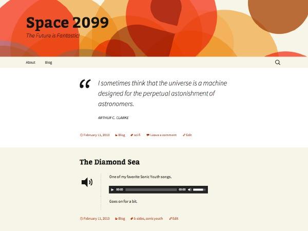 Theme WordPress 2013 Orange Sequence