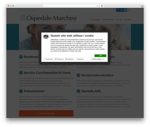 Theme WordPress 3clicks Theme - fondazionemarchesi.it