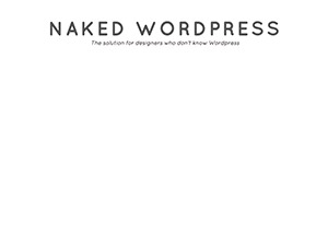 Theme WordPress Naked Wordpress