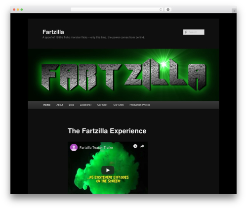 Twenty Eleven best free WordPress theme - fartzillamovie.com