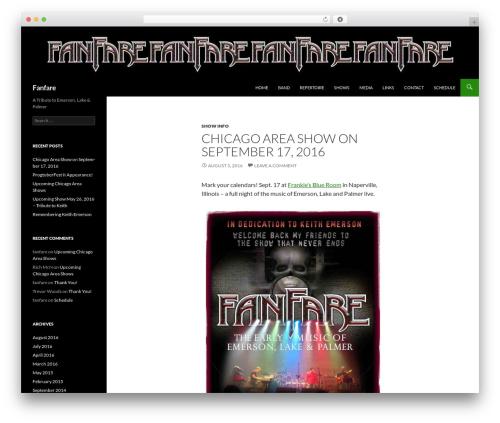 Twenty Fourteen free WordPress theme - fanfarerocks.com