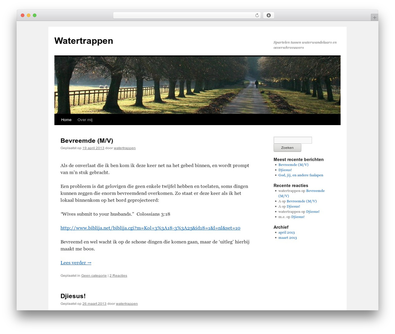 Twenty Ten best free WordPress theme - watertrappen.com