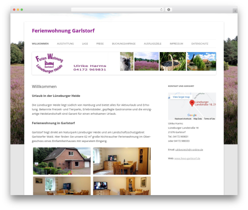 Twenty Twelve free website theme - fewo-garlstorf.de
