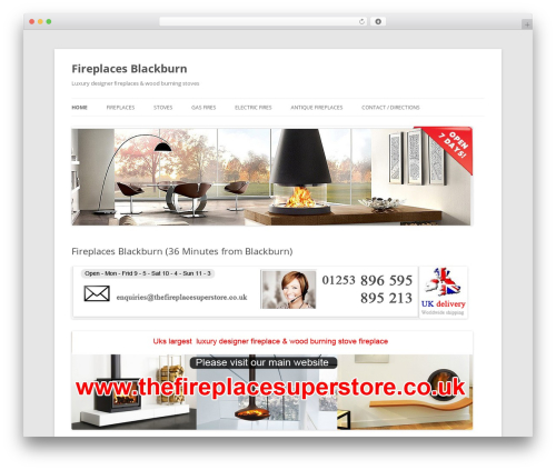 Twenty Twelve WordPress ecommerce theme - fireplacesblackburn.co.uk