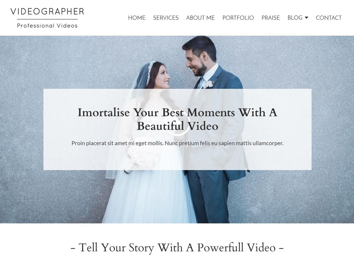 Videographer WordPress video template