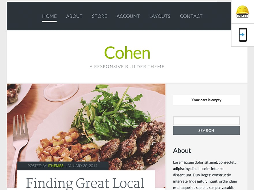 WordPress template Cohen