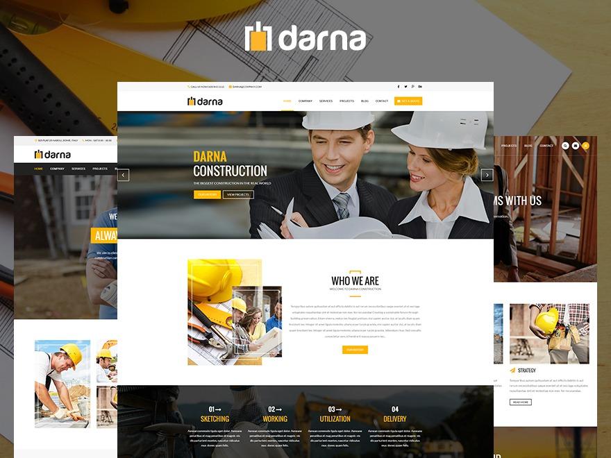 WordPress template Darna