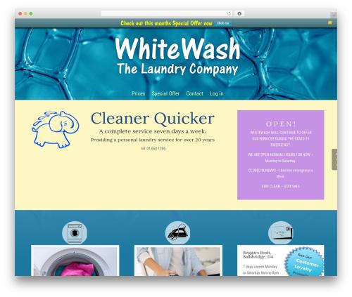 Free WordPress WPFront Notification Bar plugin - whitewash-laundry.com
