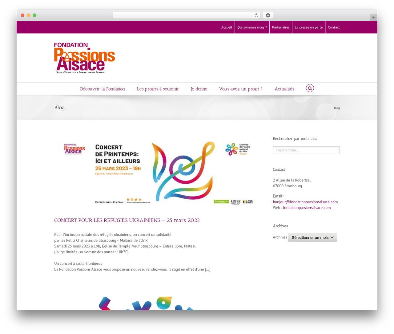 WordPress theme Avada - fondationpassionsalsace.com