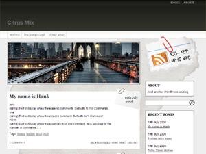 WordPress theme Fresh Editorial