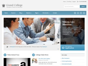 WordPress theme Grand College