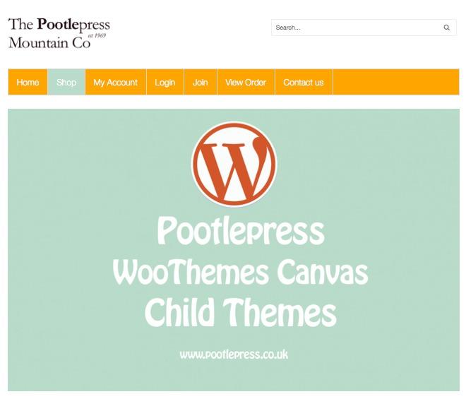 WordPress theme Pootlepress Canvas Child Theme