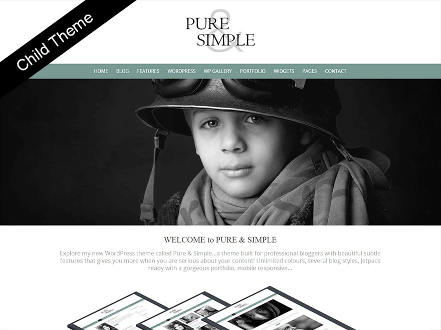 WordPress theme Pure and Simple Child