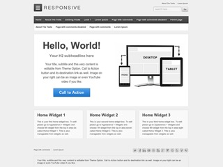WordPress theme Responsive Child