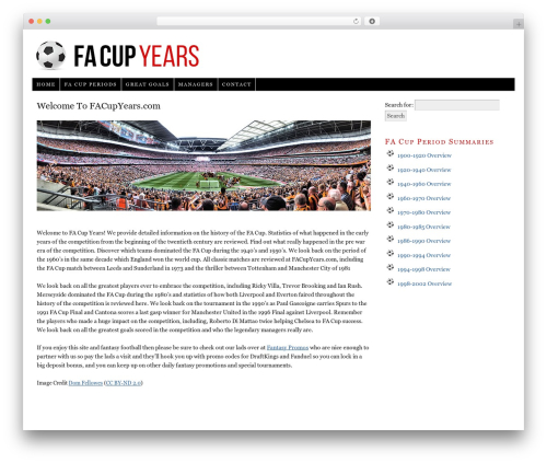 WordPress theme Thesis - facupyears.com