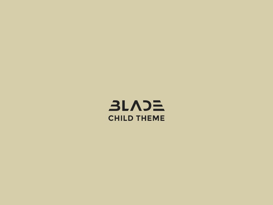 WordPress website template Blade Child