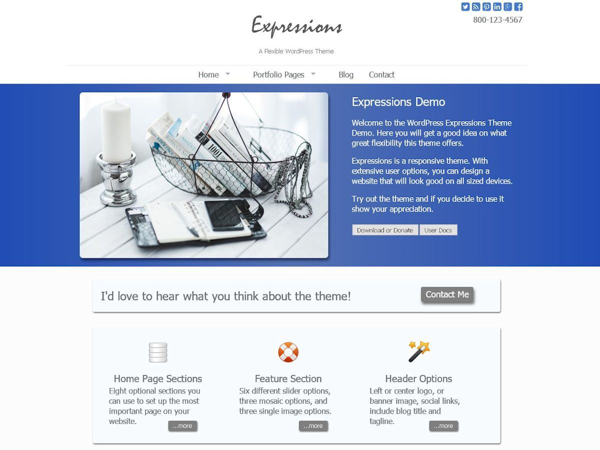 WordPress website template Expressions