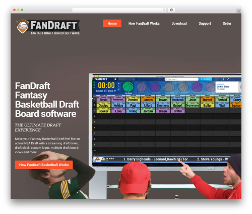 WordPress website template Kodax - fandraft-basketball.com