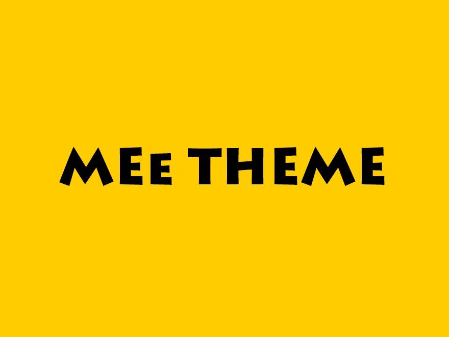 WordPress website template MeeTheme
