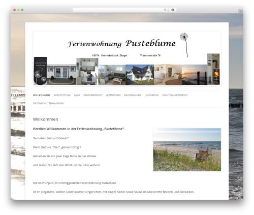 WordPress website template Pusteblume Theme - fewo-pusteblume.de