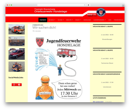 WP template Twentyfourteen Child new - feuerwehr-hondelage.de