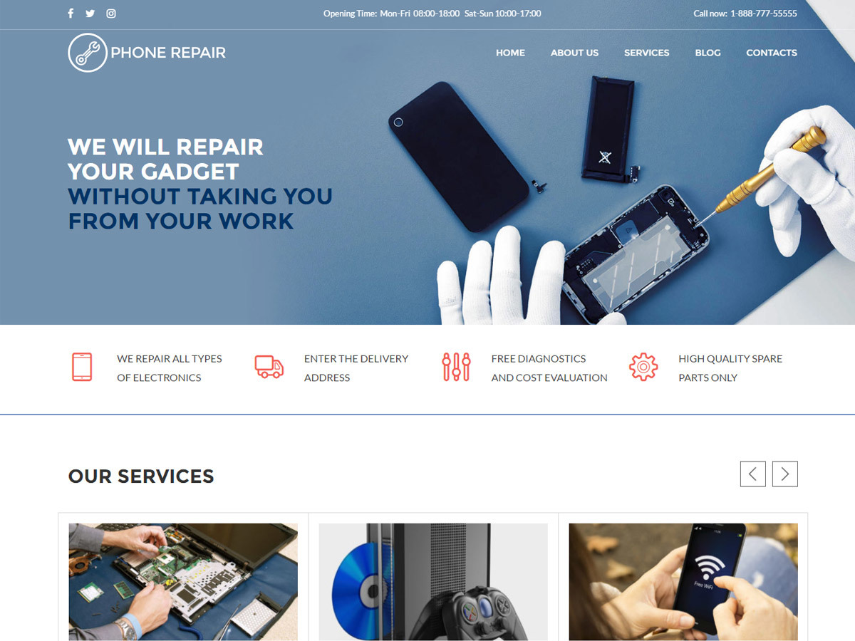 WP theme Phone Repair