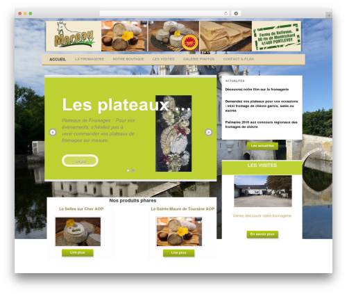WP theme Project AR2 - fromagerie-moreau-pontlevoy.com