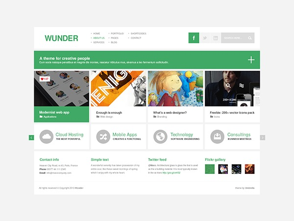 Wunder premium WordPress theme