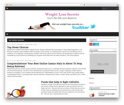 Yaaburnee Premium Theme best WordPress theme - weightlosssecrets.co.uk