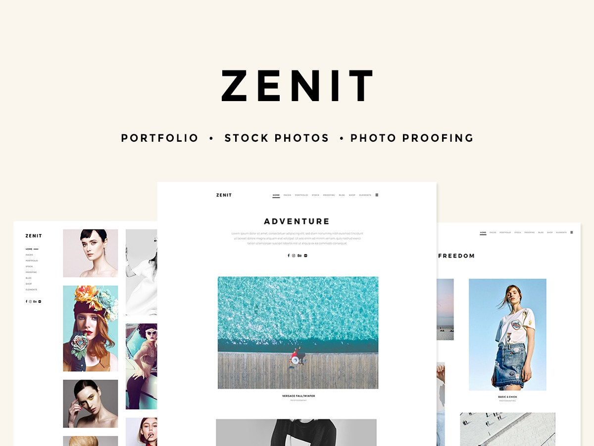 Zenit WordPress website template