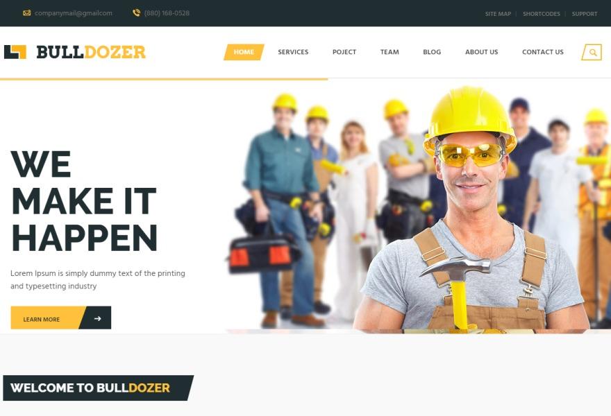 Best WordPress template Bulldozer