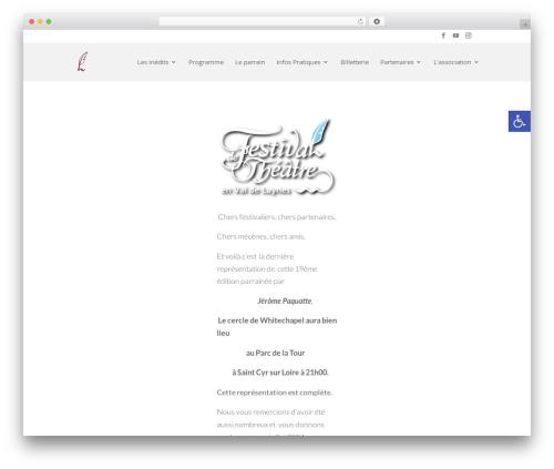 Best WordPress template Divi - theatre-valdeluynes.com