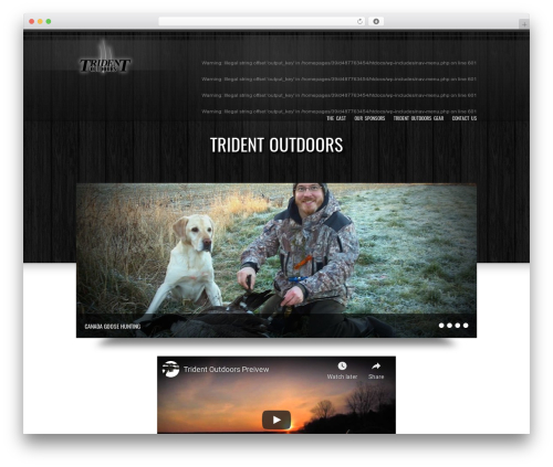 Best WordPress template Goodways - tridentoutdoors.com