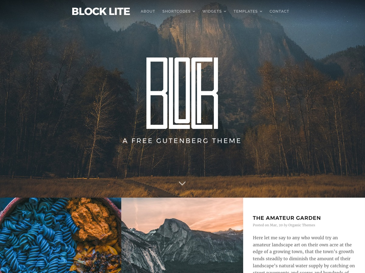 Block Lite WordPress blog theme