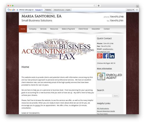 Customized business WordPress theme - taxesbymaria.com