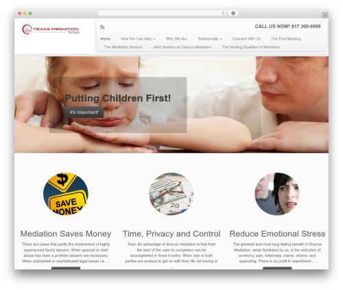 Customizr best WordPress template - texasmediationgroup.com