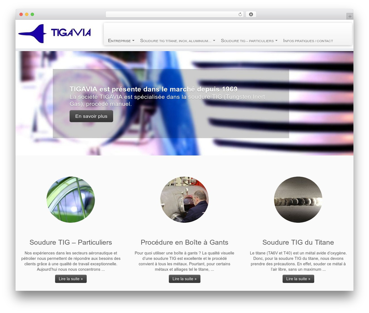 Customizr free WordPress theme - tigavia.fr