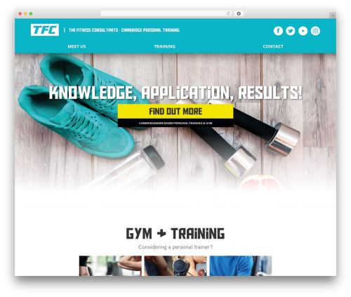 Divi fitness WordPress theme - thefitnessconsultants.co.uk