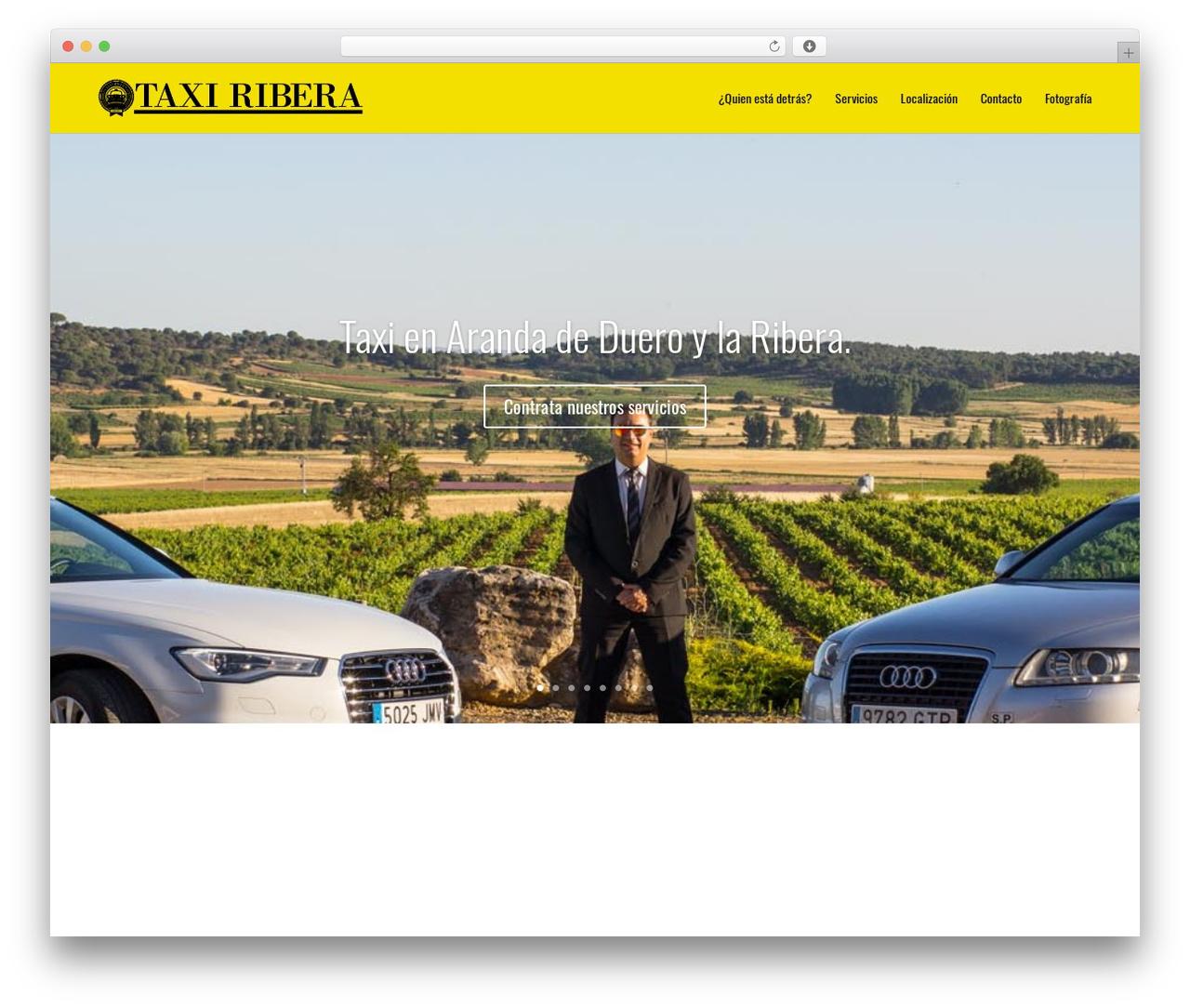 Divi WordPress page template - taxiribera.com