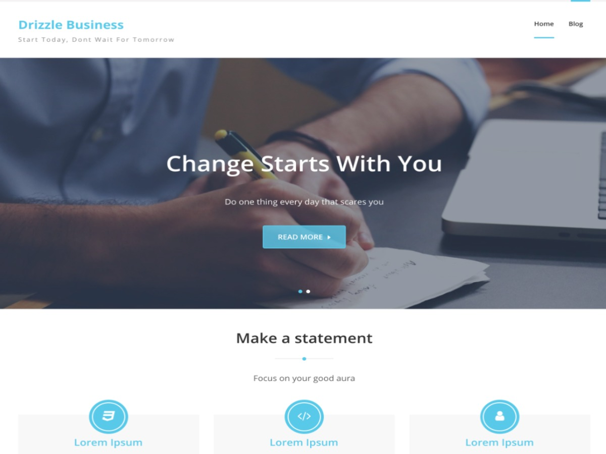 Drizzle Business WordPress theme download
