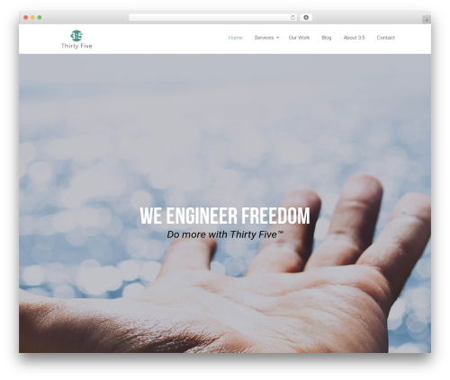 Eden best WordPress template - thirtyfive.io