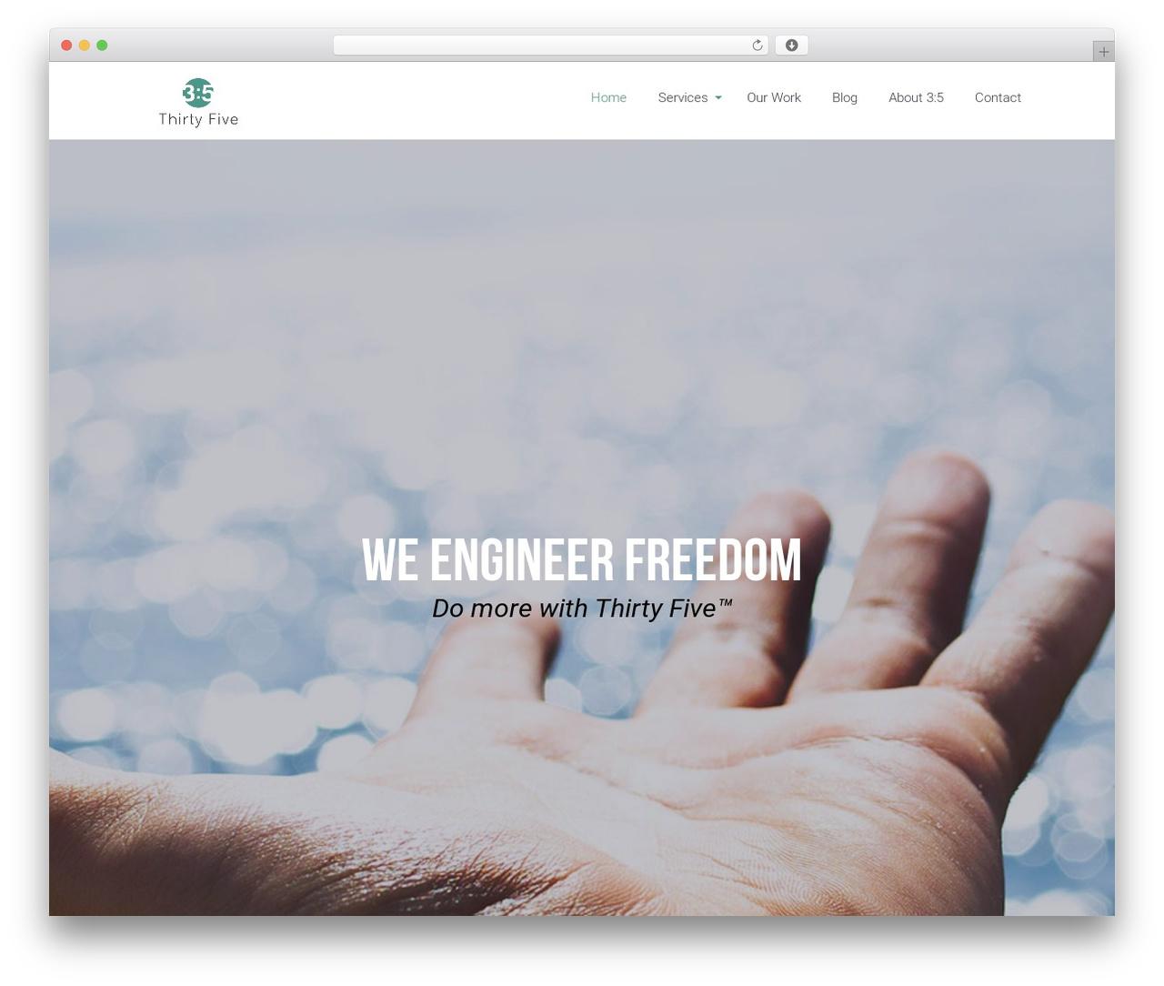 Eden best WordPress template - thirtyfive.io
