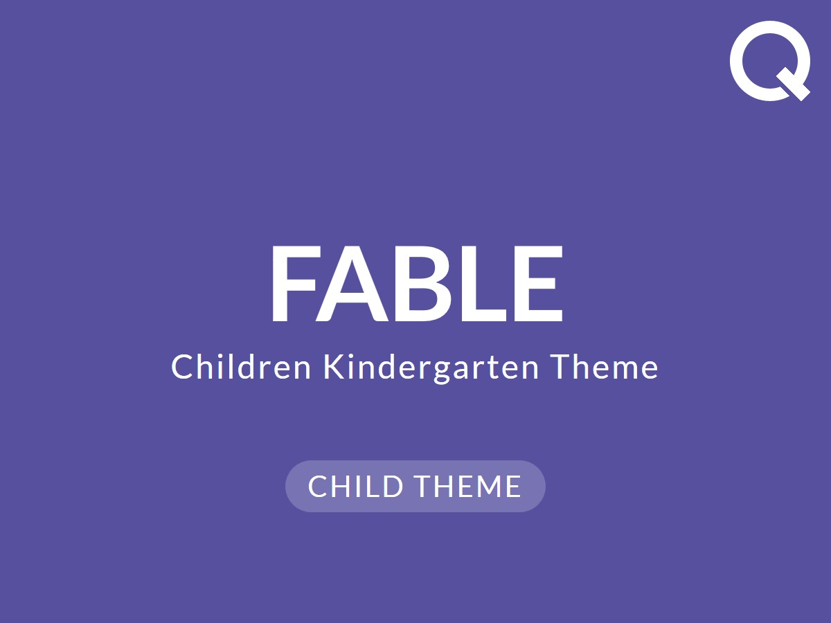 Fable Child premium WordPress theme