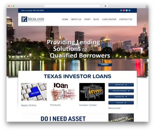 Hedge top WordPress theme - texasinvestorloans.com