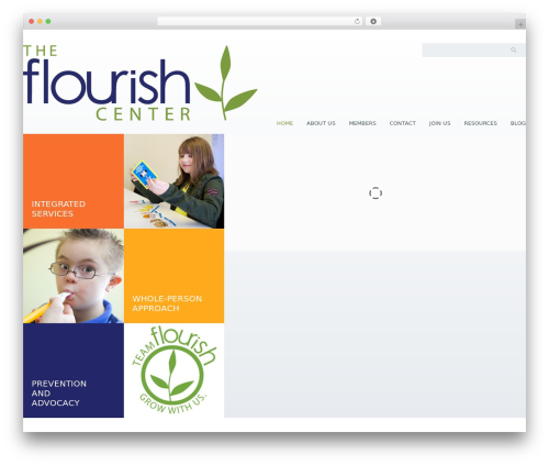 Klasik WordPress theme design - theflourishcenter.com
