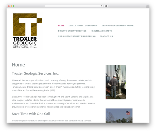 Madison WordPress theme - troxlergeologic.com